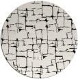 rug #1291471 | round black graphic rug