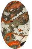 rug #1292307   oval black abstract rug
