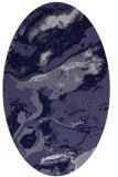 rug #1292371   oval blue-violet abstract rug