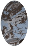 rug #1292393 | oval abstract rug