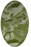 rug #1292411   oval green abstract rug