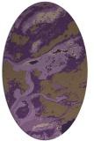rug #1292535 | oval mid-brown popular rug