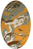 rug #1292643 | oval light-orange abstract rug