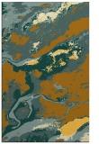 rug #1292983 |  yellow abstract rug