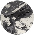 rug #1293023 | round black abstract rug