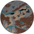 rug #1293035 | round brown abstract rug