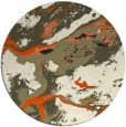 rug #1293043 | round black abstract rug