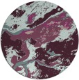 rug #1293187 | round pink abstract rug