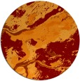 rug #1293231 | round red-orange abstract rug