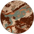 rug #1293243 | round orange abstract rug