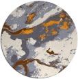 rug #1293383 | round light-orange popular rug