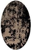 rug #1294135 | oval beige abstract rug