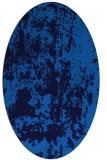 rug #1294155 | oval blue abstract rug