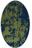 rug #1294167 | oval green abstract rug