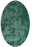 rug #1294179 | oval blue-green abstract rug