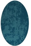 rug #1294191 | oval blue-green abstract rug