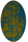 rug #1294199 | oval green abstract rug