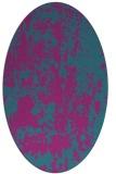 rug #1294203 | oval pink rug