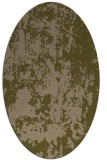 rug #1294235 | oval mid-brown rug