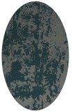 rug #1294255 | oval green abstract rug