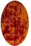 rug #1294335 | oval orange popular rug