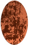 rug #1294347 | oval red-orange abstract rug