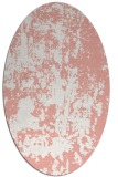 rug #1294363 | oval white abstract rug