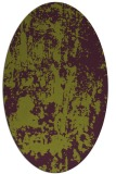 rug #1294371 | oval purple abstract rug
