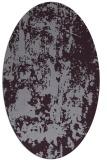 rug #1294379 | oval purple abstract rug