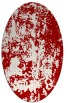 rug #1294383 | oval red abstract rug