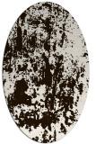 rug #1294427 | oval brown rug