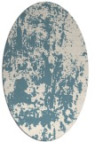rug #1294435 | oval blue-green abstract rug