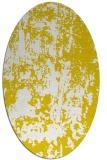 rug #1294451   oval yellow abstract rug