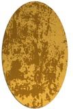rug #1294455   oval yellow abstract rug