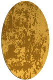 rug #1294455 | oval yellow popular rug