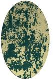 rug #1294459 | oval yellow rug