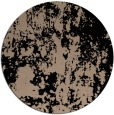 rug #1294871 | round black abstract rug