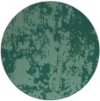 rug #1294915 | round blue-green abstract rug