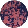rug #1294951 | round blue-violet rug