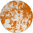 rug #1295075 | round orange abstract rug