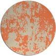 rug #1295079   round orange abstract rug