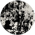 rug #1295151 | round black abstract rug