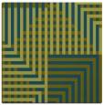 rug #1295671 | square blue-green check rug