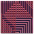 rug #1295687 | square blue-violet retro rug