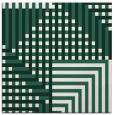 rug #1295731   square green check rug
