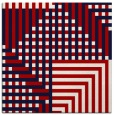 rug #1295855 | square red retro rug