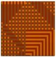 rug #1295871 | square red-orange graphic rug