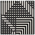 rug #1295887 | square black check rug