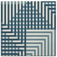 rug #1295907   square blue-green check rug