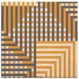 rug #1295959 | square light-orange check rug